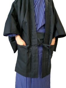 Other Images2: Outer wear -haori- Black, Cotton, One size fits all