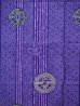 Photo2: Large / Men's Japanese Jinbei -wadokaichin- Purple, Cotton - SPECIAL DISCOUNT (2)