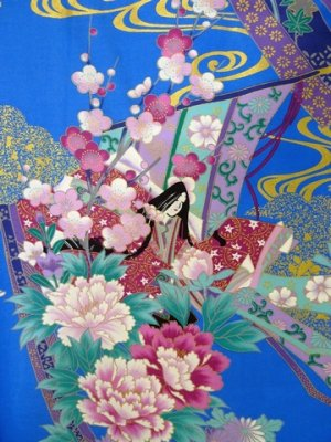 Photo2: Girl's Japanese Kimono -noshi hime- Blue, Cotton, 50in / Little -kimono- princess