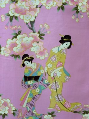 Photo2: Ladies' Japanese Short Happi -sakura tachisugata- Pink, Cotton, 35in / -sakura- and Japanese beauty