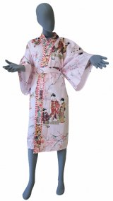 Ladies' Japanese Robe -tachisugata- Pink, Cotton, 42in / Kimono ladies