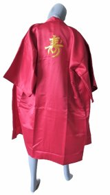 One size fits all / Ladies' Japanese Robe -kotobuki- Red, Polyester, 42in, Embroidery - SPECIAL DISCOUNT