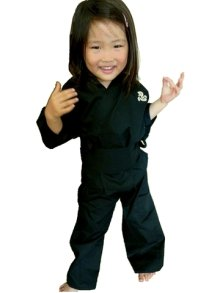 Other Images3: Kid's Xlarge / Japanese Jinbei -ninja suit- Black, Cotton - SPECIAL DISCOUNT