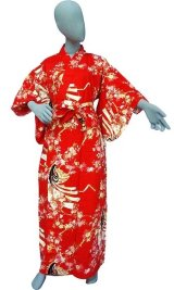 Ladies' Japanese Yukata -himezakura- Red, Cotton, Small / Cherry princess