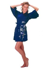 Other Images1: Ladies' Japanese Short Happi -ononokomachi- Tq blue, Polyester, 35in / Japanese old-days beauty