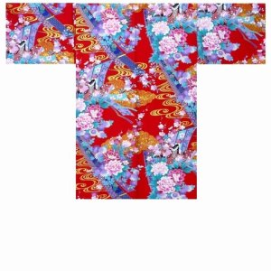 Photo1: Ladies' Japanese Short Happi -noshi hime- Red, Cotton, 35in / Little -kimono- princess