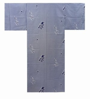 "Photo1: For Men's SPECIAL DISCOUNT Japanese Cotton Yukata - ""HISHA"" Length 56-62 in ; Size S-LL"