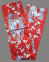 Silk Stole / Ladies' -ayame- Red - SPECIAL DISCOUNT