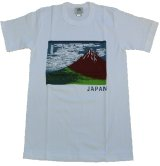 Large T shirt -fuji san- White, Cotton / -Mt.fuji-