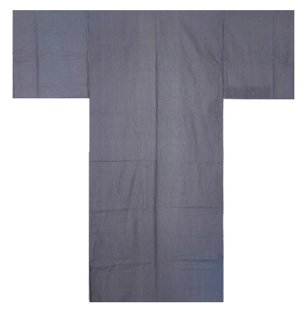 Photo1: Boy's 35inch / Japanese Yukata -shima- Navy, Cotton - SPECIAL DISCOUNT