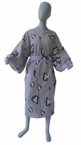 Men's Japanese Robe -ohsho- White, Cotton, 45in / Japan's king of chess pieces